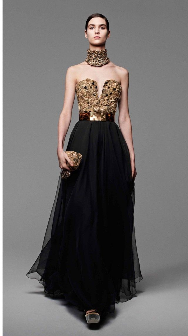 A golden bodice and choker with hive imagery for the Queen bee Cersei Lannister, Alexander Mcqueen