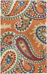 NuLOOM Rugs Modella Whimsy Paisley Orange Area Rug | My Urban Child