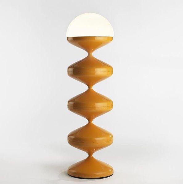 Etienne Fermigier   1969 vintage retro chic mid-century table lamp de table luminaire style mi-siècle interior design intérieur art architecture sorsluxe