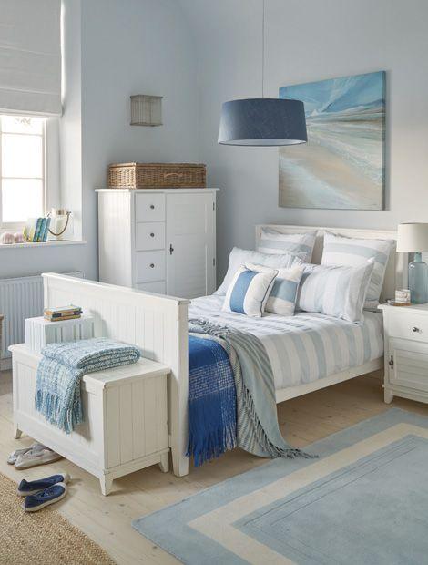 Die 25+ Besten Ideen Zu Blaue Schlafzimmer Auf Pinterest ... Schlafzimmer Deko Maritim
