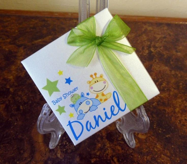 Detalle de la imagen de originales invitaciones de cajita bautizo baby shower en - Detalles para baby shower ...