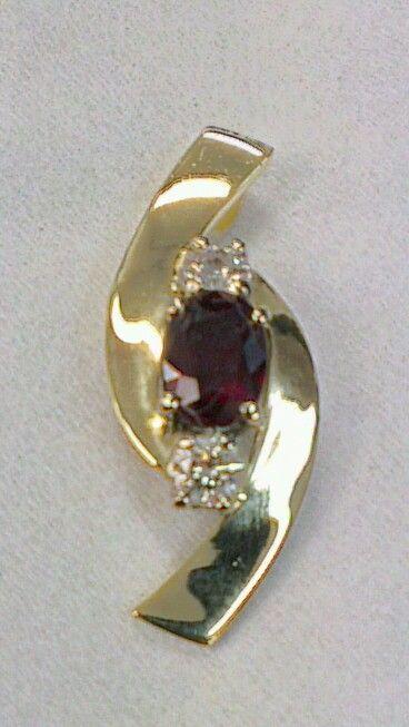 Ruby and Diamond, 9ct pendant steinerjewellery.com