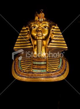 Golden death mask of Tutankhamun Royalty Free Stock Photo
