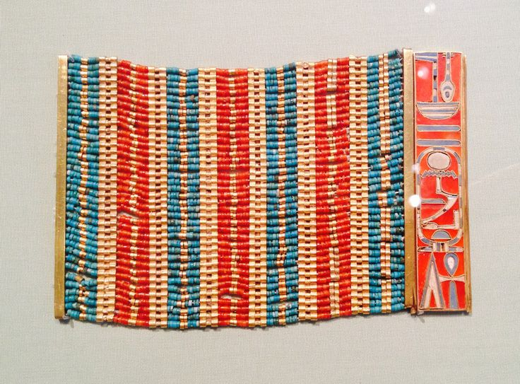 Bracelet - Ancient Egyptian jewellery exhibited at the Metropolitan Museum, NYC