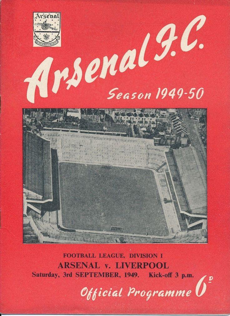 Arsenal v Liverpool 1949/50 -match  Programme