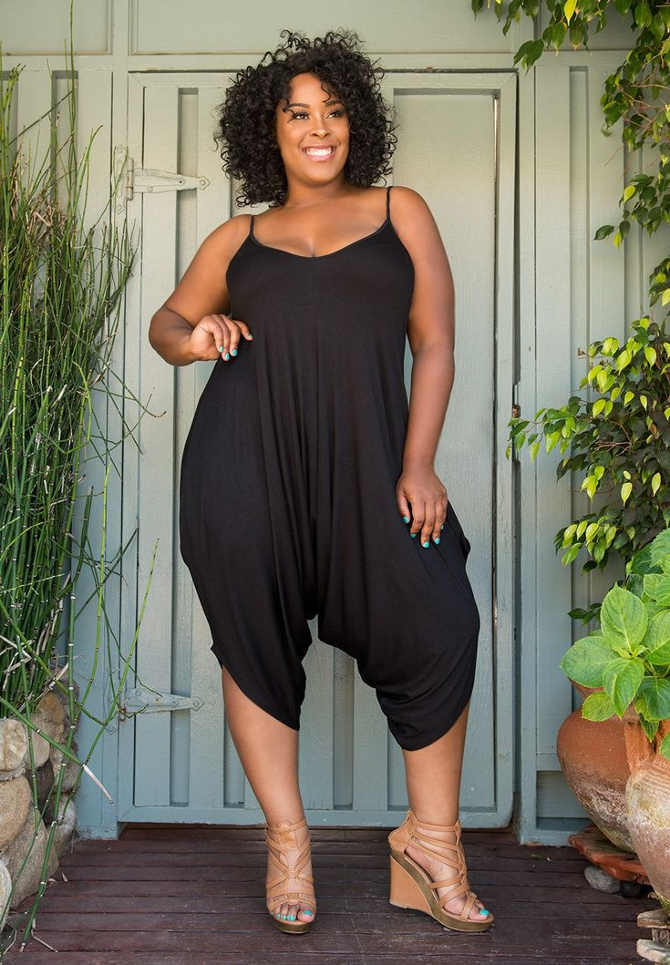 NEW Plus Size Jenny Harlem Romper - Black Curvalicious Clothes