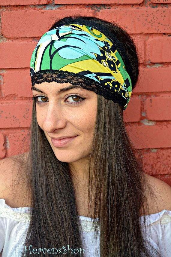 Colorful Headband With Op Art Patterns Turban And by HeavensShop, €14.00