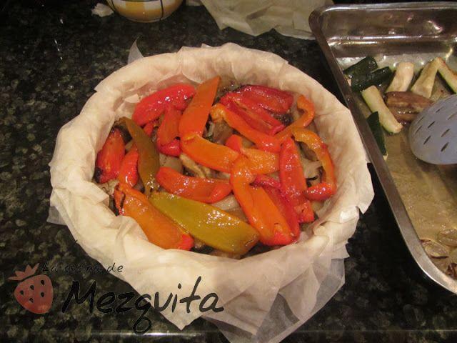 Pastel De Verduras Asadas Y Queso De Cabra En Masa Filo La Cocina De Mezquita Verduras Asadas Pastel De Verduras Verduras
