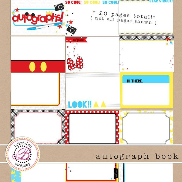 Printable Autograph Book. Can also be used as a digital book.