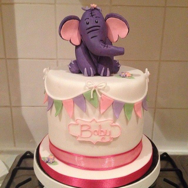 Hefalump Baby Shower Cake