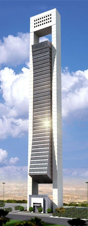 Al Faisal Tower, Doha, Qatar by Diwan Al Emara Architects :: 54 floors, height 227m