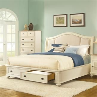 Coventry Sleigh Upholstered Storage Bed I Riverside Furniture