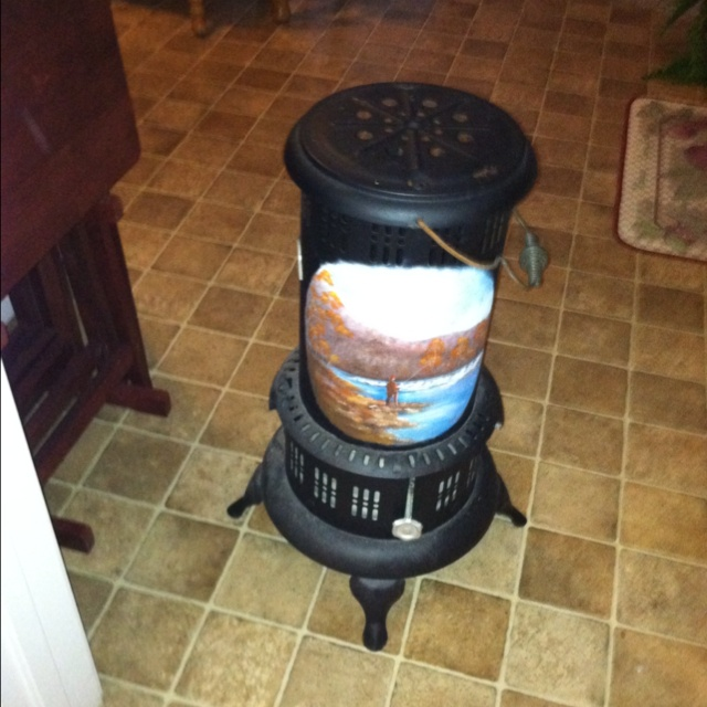 Painted heater even more decorative painting pinterest for Decorative rocket stove