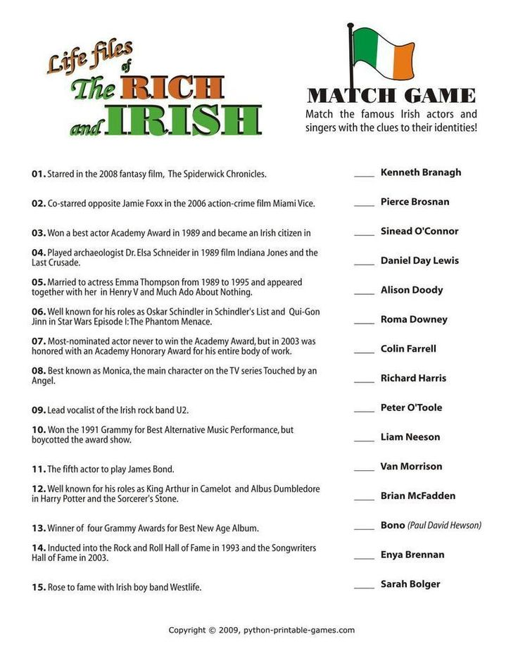 Effortless image with st patrick day trivia questions and answers printable