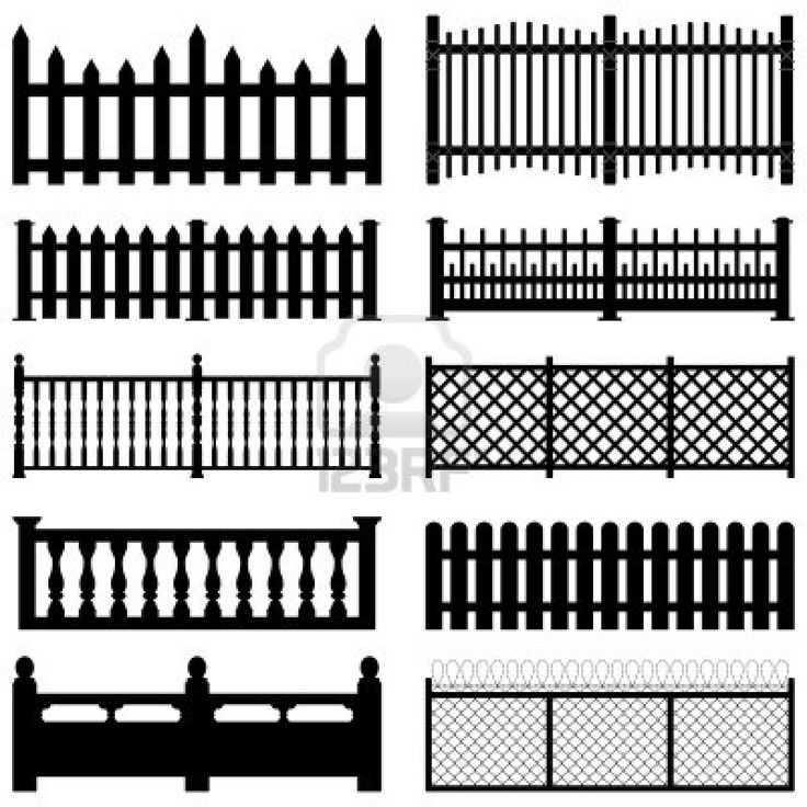 Image Detail For  Stock Photo   Fence Picket Wooden Wired Brick Garden Park  Yard