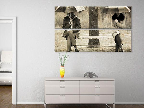 Ξεχωριστή λύση διακόσμησης με Multipanel #digiwall από την κατηγορία ΦΥΣΗ : Vintage φωτογραφία ανθρώπων στη βροχή
