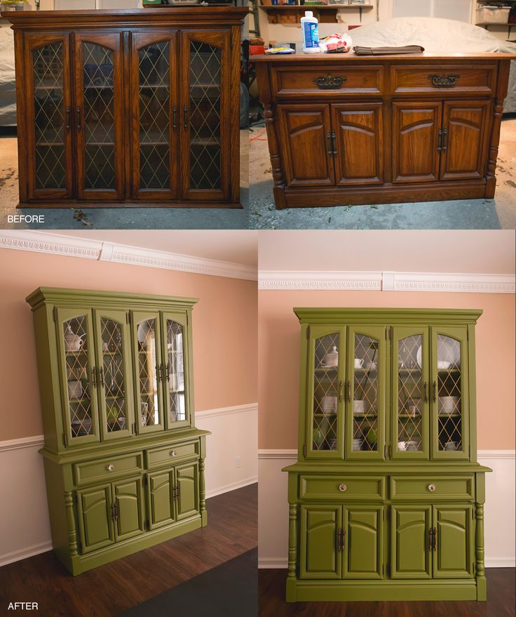 Painted China Cabinet  |  DIY Painted China Cabinet  |  Painted China Cabinet…