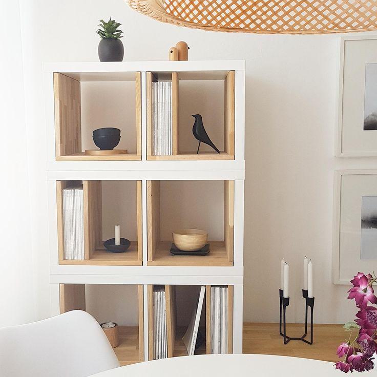 #ikeahack #wohnzimmer #kallax Kallax Elemente mit …