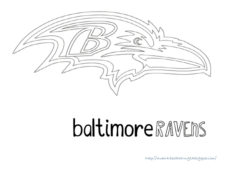 Free Printables Super Bowl Xlvii Coloring Pages Baltimore Ravens Color Pages