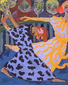 Emil Nolde - Dancers - 1920 http://www.staatsgalerie.de/malereiundplastik_e/bis1980_rundg.php?id=6