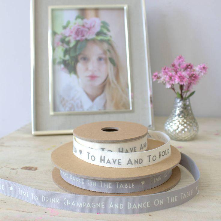 wedding ribbon by ella james | notonthehighstreet.com