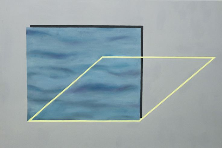 Over by Shuah Brotherton; I like anything with simple geometric shapes but the watery surface of the blue rectangle almost makes it seem like a floating pool.
