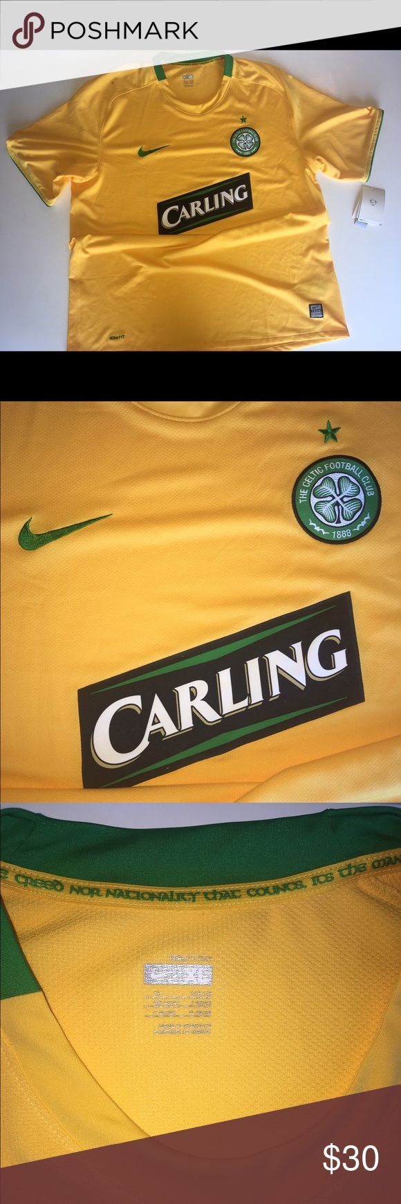 Nike Carling Celtic Soccer ⚽️Jersey size XL Nike Carling Celtic Soccer ⚽️Jersey size XL BRAND NEW!!! Has a small black mark on right shoulder which is pictured above. Nike Shirts