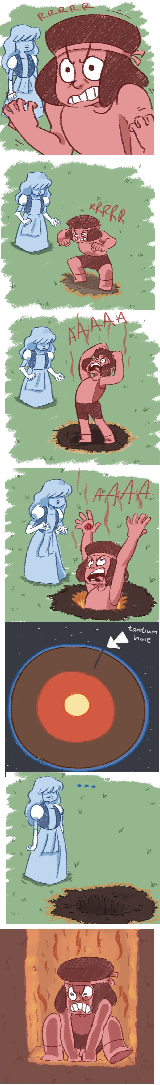...She might find the Cluster that way. <--- o___O <<< I'm sorry bUT TANTRUM HOLE