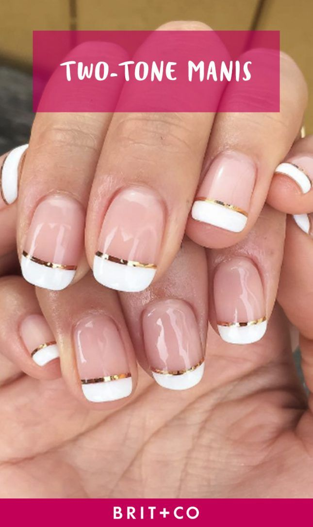 Two-tone manicures you must try this summer.