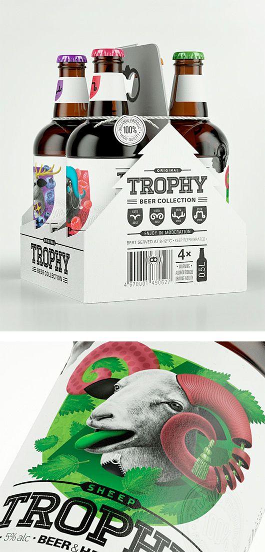 Trophy Beer. Repinned by www.strobl-kriegner.com #branding #packaging #design #creative #marketing