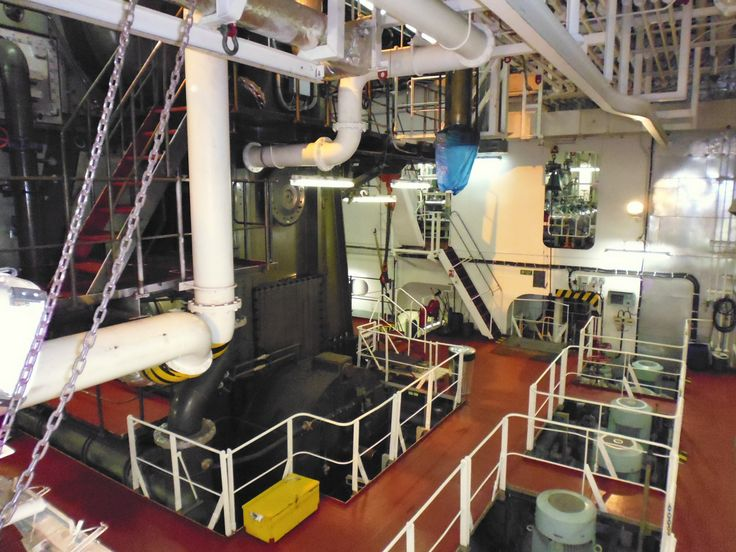 The engine room of the container ship #travel (my camera couldn't do it justice!)