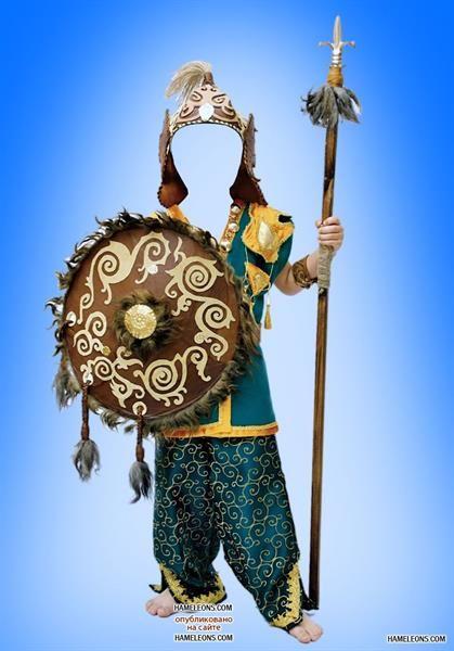 Казахские детские костюмы для фотошоп