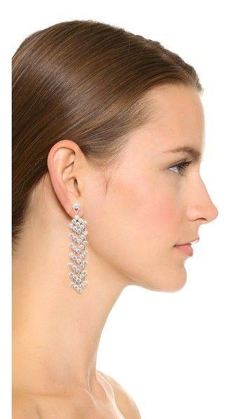 Kenneth Jay Lane Round Fringe Earrings