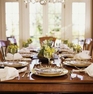 Formal dinnerware...How to Set A Formal Table