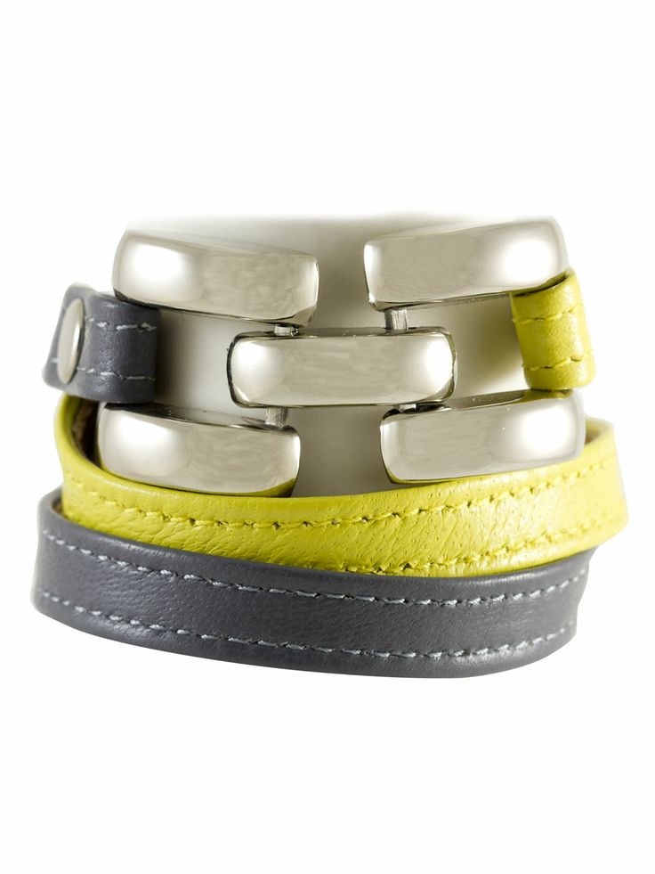 bright leather bracelet #handmade #accessorize #spring2014 #fashion