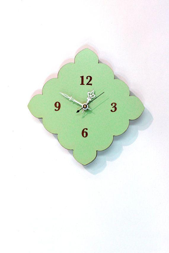 tiny scallop clock kitchen clock bathroom clock by uncommon. 1000  ideas about Bathroom Clocks on Pinterest   Purple nautical