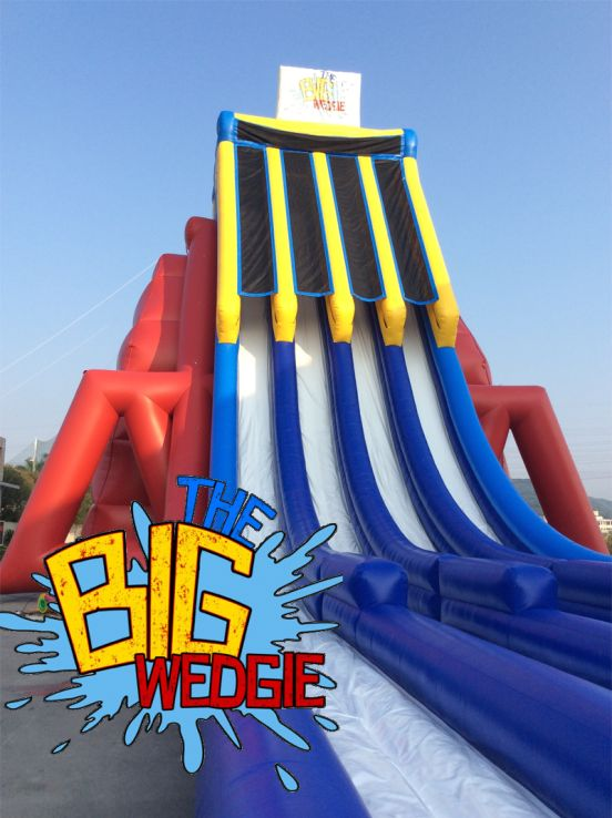 Introducing The Big Wedgie, the TALLEST inflatable water slide in the world! Visit Glenelg Beach from Sun, Dec 23th - Jan 28th for a fun water slide thrill!