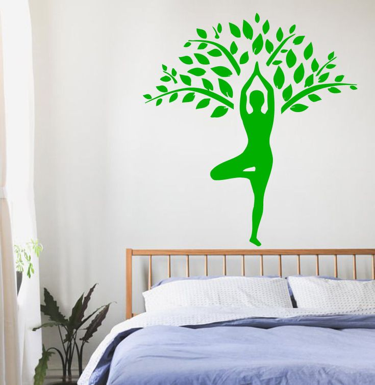 Yoga Wall Decals Girl Gymnast Tree Decal Sport Vinyl Sticker Bedroom Decor  KG758 Part 93