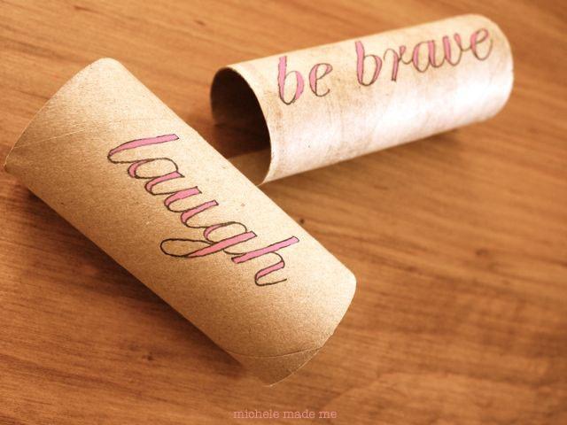 michele made me: Cardboard Tube Clip-On Shelf Labels: Cardboard Tube