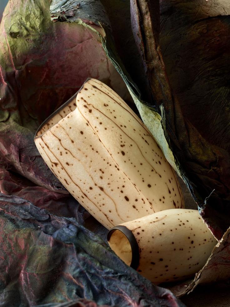Dinosaur Designs Two-Tone Shell Wrap Vases