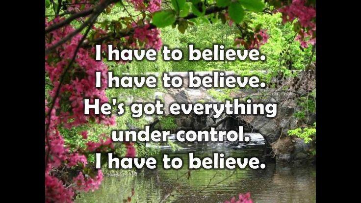 I Have to Believe w/ lyrics Sung by Rita Springer. My favorite Christian artist, love love her!