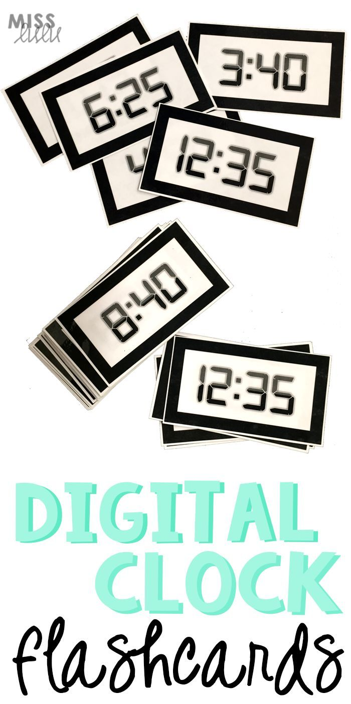 Practice Telling Time On A Digital Clock With These Flashcards Perfect For Special Education Telling Time Practice Special Education Flashcards