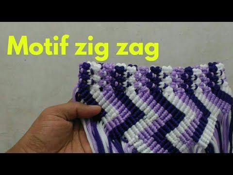 Tutorial Membuat Tas Tali Kur Motif Zig Zag Vertikal By zeptaify Part 1 -  YouTube 0097afd784
