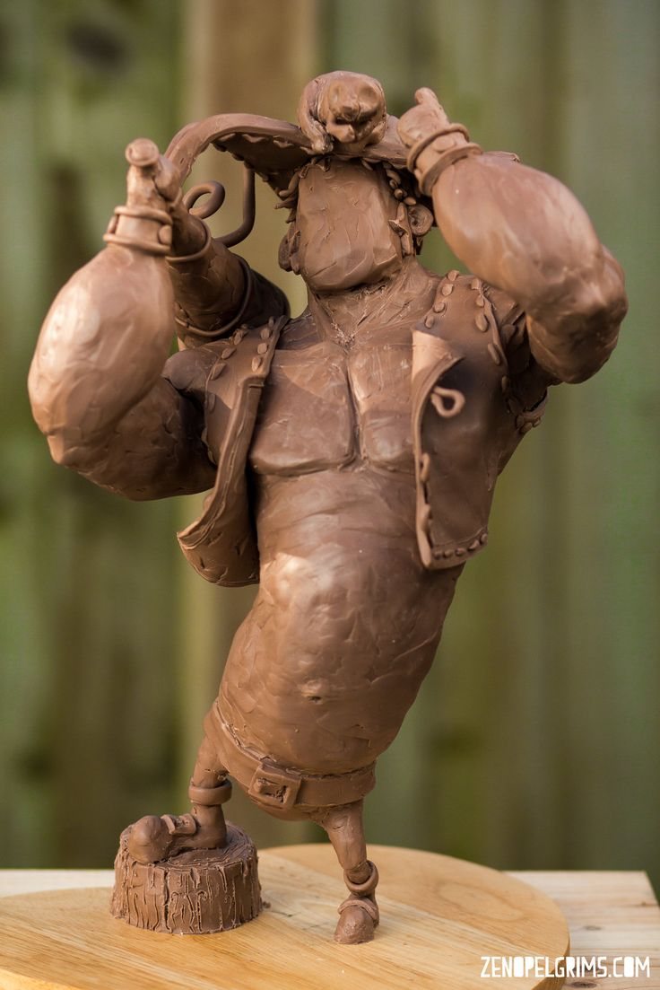 Pirate sculpt [traditional], Zeno Pelgrims on ArtStation at https://artstation.com/artwork/pirate-sculpt-traditional