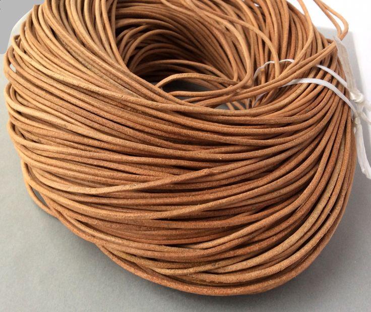 Купить или заказать Шнур кожаный 2 мм бежевый матовый для украшений в интернет-магазине на Ярмарке Мастеров. Кожаный шнур натуральный, цветной, диаметр 2 мм.