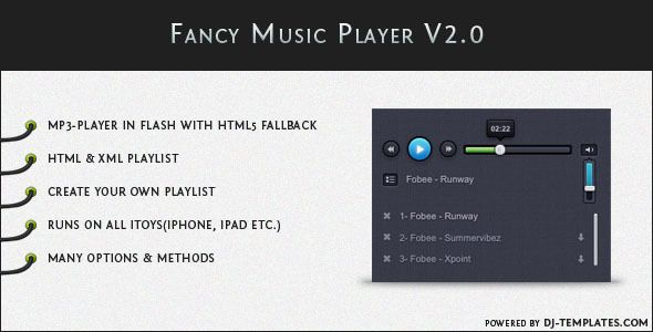 Fancy Music Player V2.0 - jQuery plugin - CodeCanyon Item for Sale
