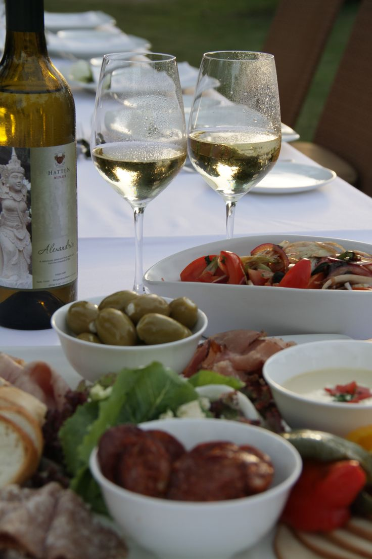 Alexandria from Hatten Wines served with mezze