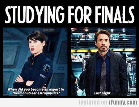 Studying For Finals... Avenger style. Pretty much how it goes.