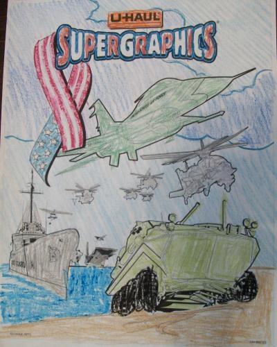 u haul supergraphics coloring contest pages - photo #8