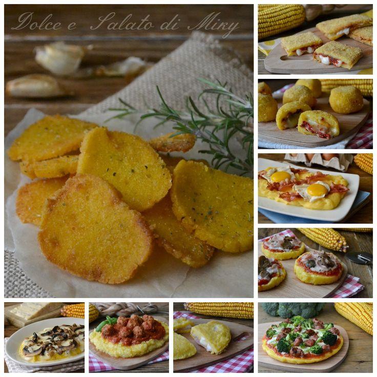 Ricette a base di polenta, tante idee diverse dall'antipasto al piatto unico, tutte a base di polenta.